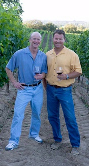 Steve Dutton and winemaker Dan Goldfield